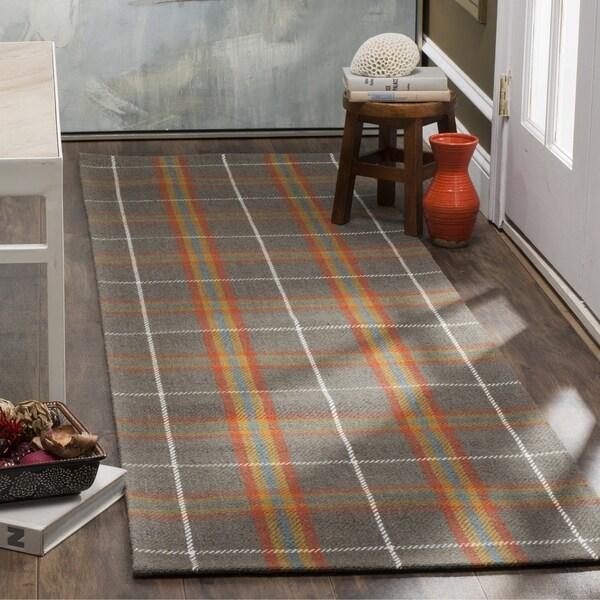 Safavieh Marbella Handmade Contemporary Plaid Multi Wool Runner (2' 3 x 8')