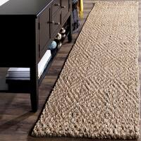 Safavieh Natural Fiber Diamond Weave Handmade Natural/ Natural Jute Runner - 2' 3 x 10'