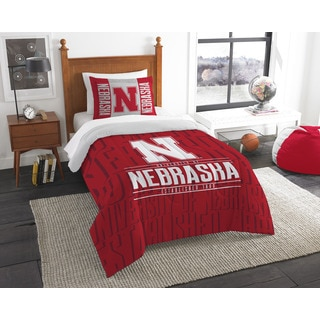 The Northwest Co COL Nebraska Modern Take Red Twin 2-piece Comforter Set