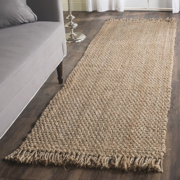 Safavieh Hand-Woven Natural Fiber Natural Jute Runner Rug (2'6 x 14')