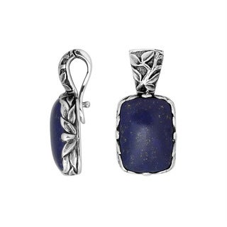 Handmade Artisan-made Sterling Silver Lapis Clip-on Enhancer Pendant (Indonesia)