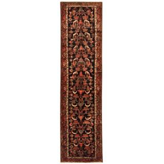 Herat Oriental Persian Hand-knotted Tribal Hamadan Wool Runner (3'4 x 13')