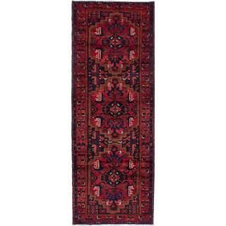 Ecarpetgallery Nahavand Red Wool Rug (3'7 x 9'9)