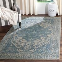 Safavieh Handmade Restoration Vintage Oriental Blue/ Grey Wool Runner (2' 3 x 10')