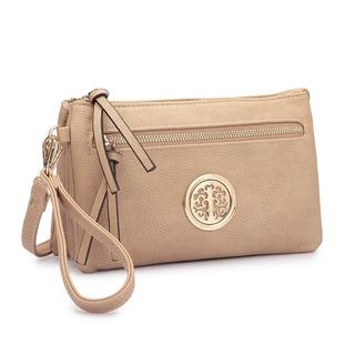 Dasein Soft Faux Leather Gold-Tone Crossbody Handbag