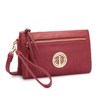 Dasein Soft Faux Leather Gold-Tone Crossbody Handbag