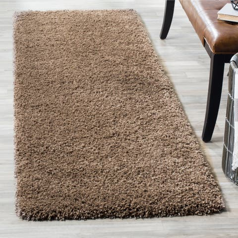 "Safavieh California Cozy Plush Taupe Shag Runner - 2'3"" x 21' Runner"