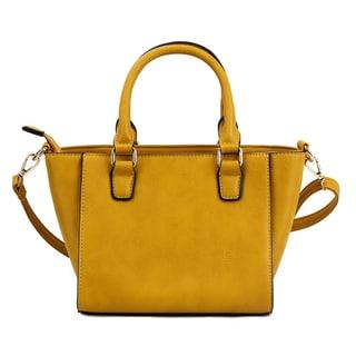 Olivia Miller 'Maisy' Faux Leather Trapeze Shoulder Handbag