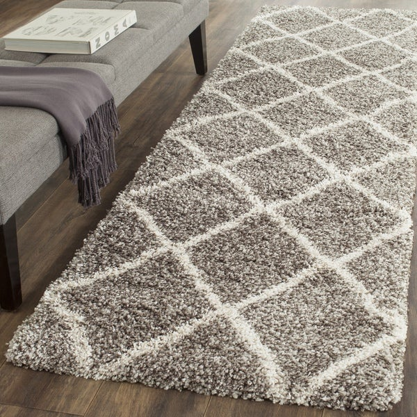 Safavieh Hudson Diamond Grey Ivory Runner 2 X27 3 X 14