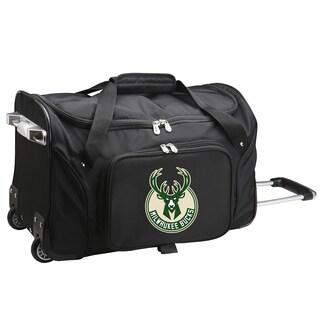 Denco Sports Milwaukee Bucks Carry-on Rolling Duffel Bag