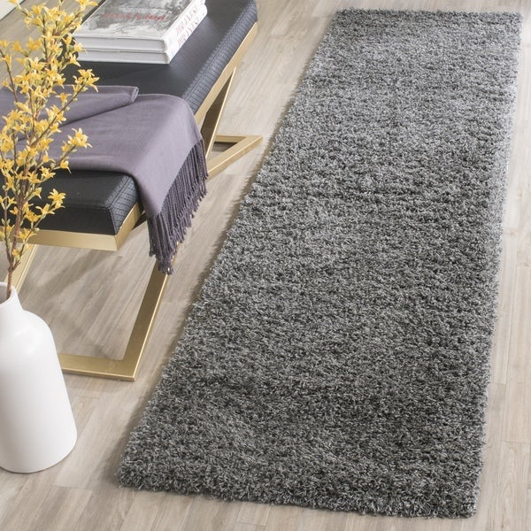 Safavieh Laguna Shag Dark Grey Runner (2' 3 x 6')