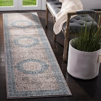 Safavieh Sofia Vintage Medallion Light Grey / Blue Distressed Runner (2' 2 x 12')