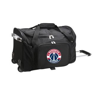 Denco Washington Wizards Black Nylon 22-inch Carry-on Rolling Duffel Bag