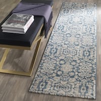 Safavieh Sofia Vintage Damask Blue/ Beige Distressed Runner Rug