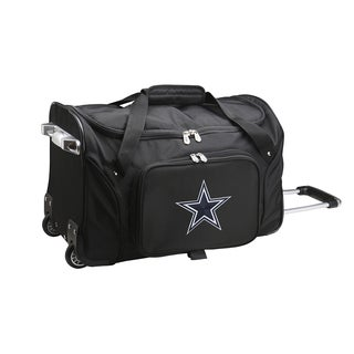 Denco Sports Dallas Cowboys Black Nylon 22-inch Carry-on Rolling Duffel Bag