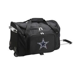 Denco Sports Dallas Cowboys Black Nylon 22-inch Carry-on Rolling Duffel Bag
