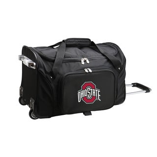 Denco Sports Ohio State 22-inch Carry-on Rolling Duffel Bag