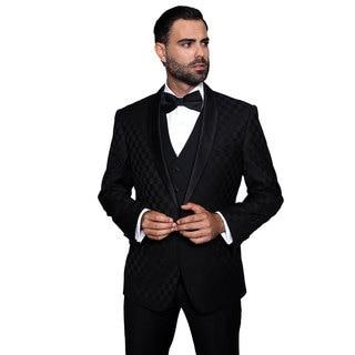 Bariblack Men's Tuxedo Statement Suit