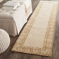 Safavieh Total Performance Handmade Trellis Ivory/ Cream Runner (2' 3 x 9')