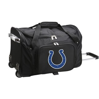 Denco Sports Indianapolis Colts Black Nylon 22-inch Carry-on Rolling Duffel Bag