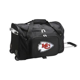Denco Sports Kansas City Chiefs 22-inch Carry-on Rolling Duffel Bag