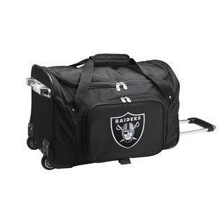 Denco Sports Oakland Raiders Black 22-inch Carry-on Rolling Duffel Bag