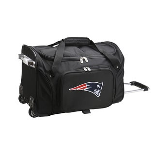 Denco Sports New England Patriots 22-inch Carry-on Rolling Duffel Bag