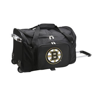 Denco Boston Bruins Black Nylon 22-inch Carry-on Rolling Duffel Bag
