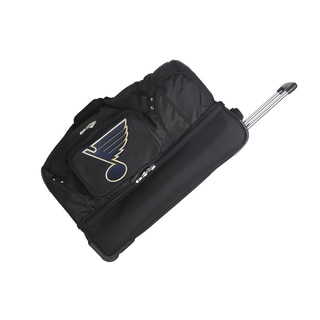 Denco Sports St. Louis Blues 27-inch Drop Bottom Rolling Duffel Bag