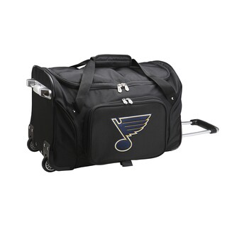 Denco St. Louis Blues Black Nylon 22-inch Carry-on Rolling Duffel Bag