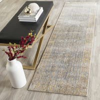 Safavieh Valencia Grey/ Multi Distressed Silky Polyester Runner Rug - 2' 3 x 12'