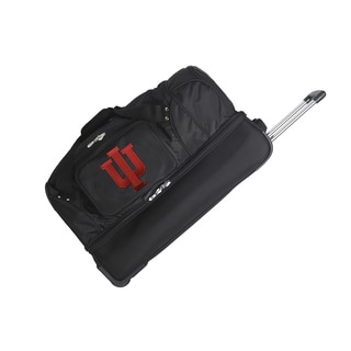 Denco Indiana University Black 27-inch Drop Bottom Rolling Duffel Bag