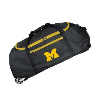 Deco Sports Mojo Michigan Black Nylon 36-inch x 15-inch Collapsible Duffel Bag