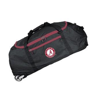 Denco Sports 'Mojo Alabama' Black Nylon and Polyester 36-inch Collapsible Duffel Bag