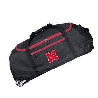 Deco Sports Mojo Nebraska Black Nylon 36-inch x 15-inch Collapsible Duffel Bag