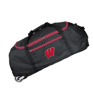 Denco Sports Mojo Wisconsin Black Nylon 36-inch Collapsible Duffel Bag