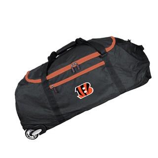 Deco Sports Mojo Cincinnati Bengals Black Nylon 36-inch Collapsible Duffel Bag
