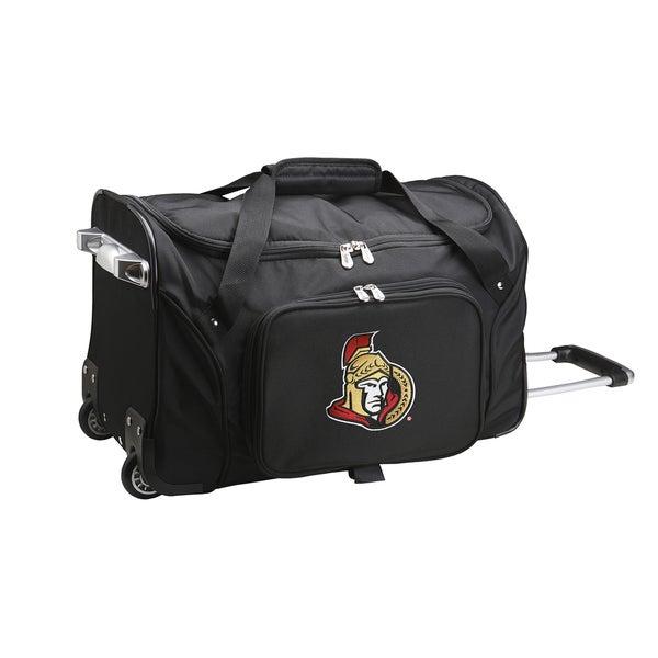 Denco Ottawa Senators Black Nylon 22 Inch X 12 Carry On Rolling