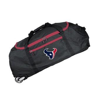Deco Sports Mojo Houston Texans Black Nylon 36-inch x 15-inch Collapsible Duffel Bag