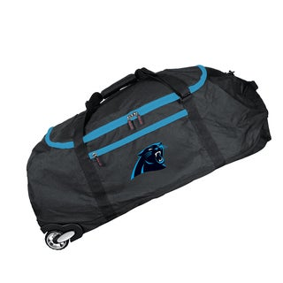Deco Sports Mojo Carolina Panthers Black Nylon 36-inch Collapsible Duffel Bag