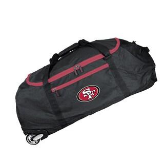 Deco Sports Mojo San Francisco 49ers Black Ballistic Nylon 36-inch Collapsible Duffel Bag