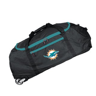 Deco Sports Mojo Miami Dolphins Black Nylon 36-inch Collapsible Duffel Bag