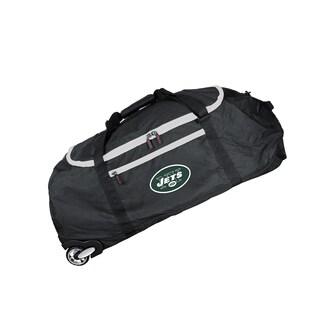 Denco Sports Mojo New York Jets Black Nylon 36-inch Collapsible Duffel Bag