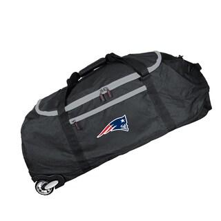 Denco Mojo New England Patriots Black Nylon 36-inch x 15-inch Collapsible Duffel Bag