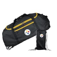 Denco Mojo Pittsburgh Steelers Black Nylon 36-inch Collapsible Duffel Bag