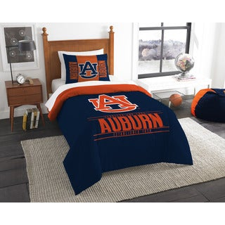 The Northwest Co COL 862 Auburn Modern Take Blue and Orange Polyester Twin 2-piece Comforter Set