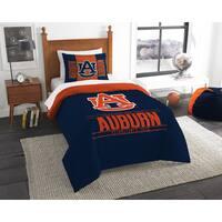 The Northwest Co COL 862 Auburn Modern Take Blue and Orange Polyester Twin 2-piece Comforter Set