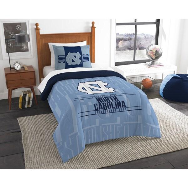 The Northwest Co University of North Carolina Blue Polyester Twin 2-piece Comforter Set