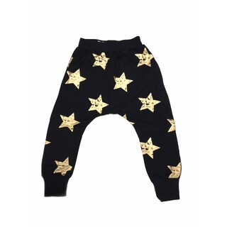 Haley Boutique Girls' Rock Stars Black Cotton and Spandex Sweatpants
