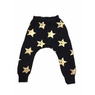 Haley Boutique Girls' Rock Stars Black Cotton and Spandex Sweatpants